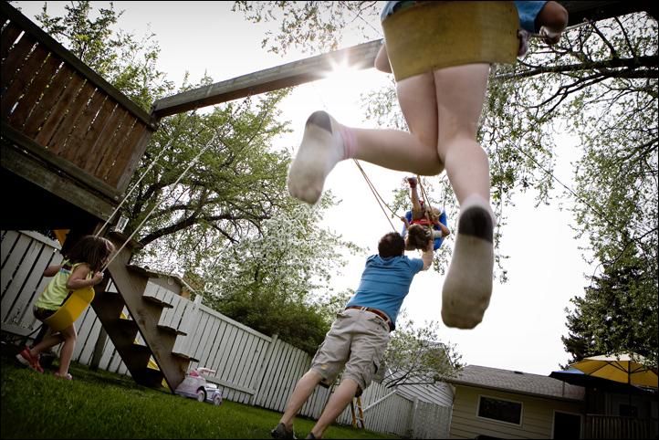 family photos in your backyard